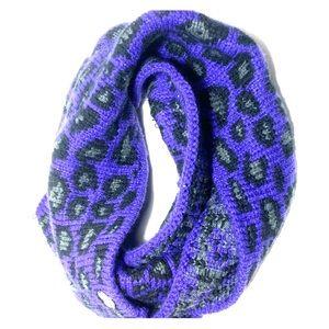 Betsey Johnson Purple Leopard Infinity Scarf